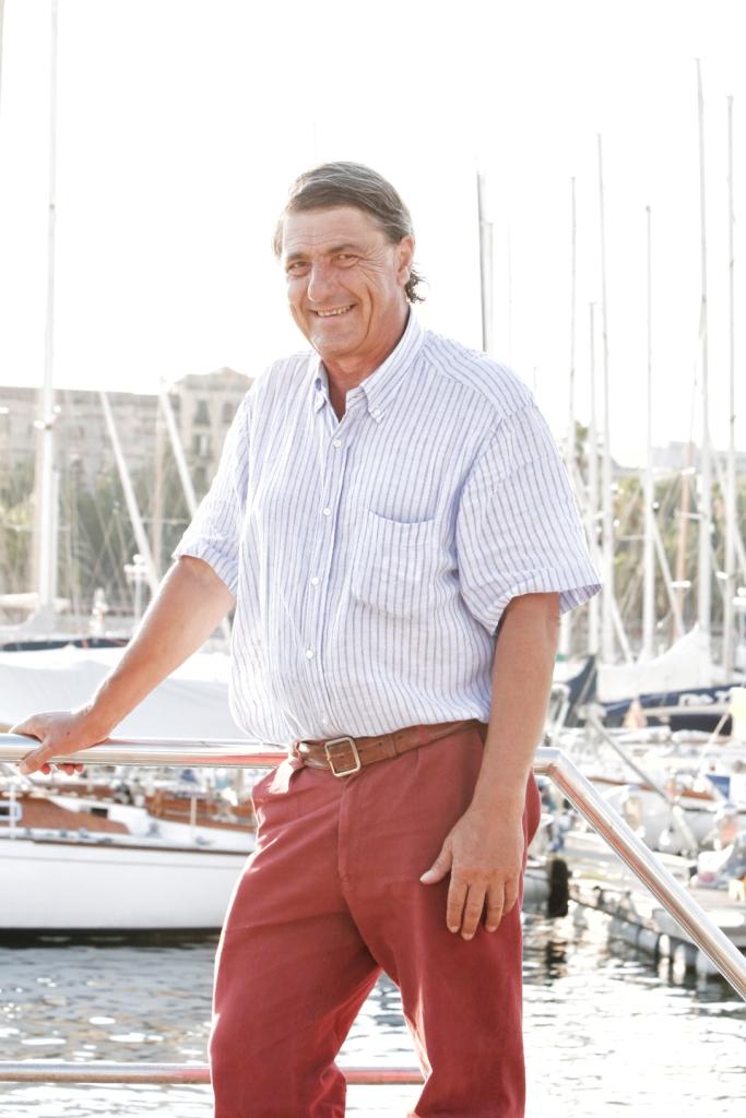 Nicola Santoni en el Real Club Nautico de Barcelona
